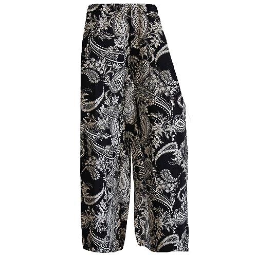 9108e1eb266c4 Brezza F4U® Womens Printed Flared Ladies Wide Leg Parellel Palazzo Trousers  Pants Palazzo Leggings