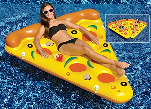 72  Water Sports Inflatable Pizza Slice Swimming Pool Float by Swim Central