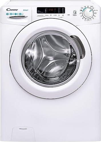 Candy Smart CS 1482DE/1-S Machine à laver 8 kg 1 400 tr/min Repassage facile 5 programmes rapides Wifi Bluetooth Blanc