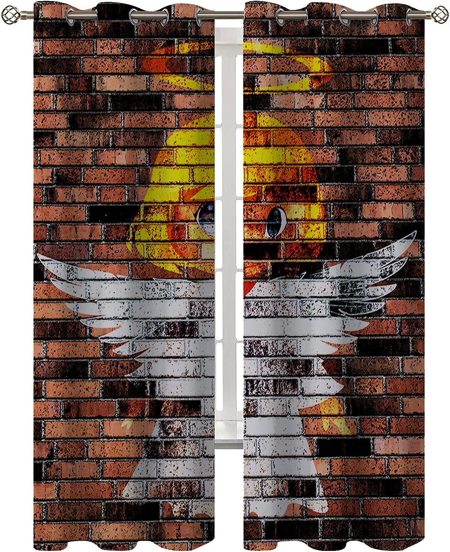 fucyBu Red Max 82% OFF Colorado Springs Mall Brick Wall Angel Cute Cartoon Drawing Decor Age Curta