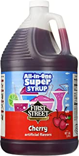 First Street All-In-One Super Syrup, Cherry, 1 Gallon (3.78 liters)