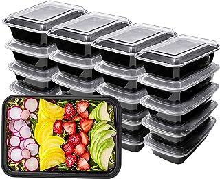 HENSHOW 1 Compartimiento de Comida Juegos de Recipientes Set de 20 Piezas, 1000 ML Premium Reutilizable BPA Libre Juegos d...