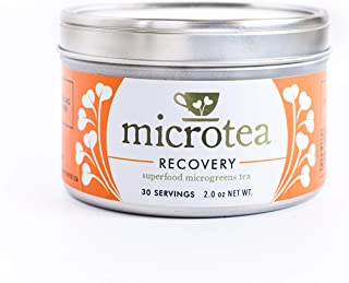 Microtea Recovery - An Amazing Tea with microgreens (super greens), turmeric, and ginger - joint mobility, gain energy, and recover quicker