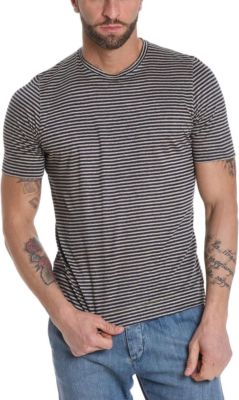 H953 Men's HS218511 Grey Linen TShirt