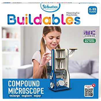 Skillmatics Buildables: Compound Microscope (8-99 Years) | Stem Learning, Educational and Construction Activity Toy | Gifts for Boys and Girls Ages 8 and Up