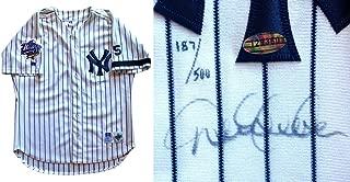 Derek Jeter Autographed Signed Yankees 1999 Ws Jersey Auto Joe Dimaggio Patch Steiner Authentic Le