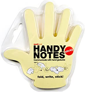 Suck UK Handy Notes - Notas autoadhesivas (12.2 x 10.5 cm), color amarillo claro