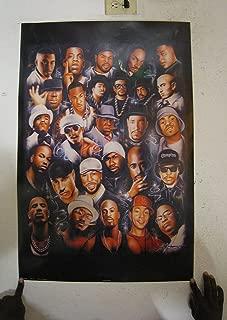 HSE (24x36) Rap Legends (Rapper Collage) Music Poster Print