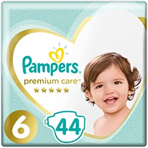 Pampers Premium Care Diapers - Size 6, Junior, 44 Diapers