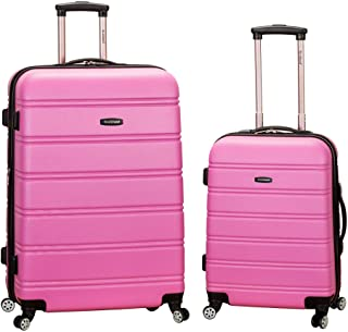 "Rockland 20"", 28"" 2pc Expandable Abs Spinner Set, Pink (Pink) - F225"