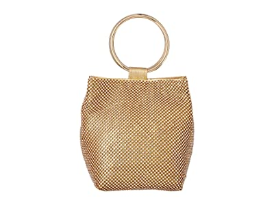 Jessica McClintock Gwen Clutch (Iridescent Gold) Clutch Handbags