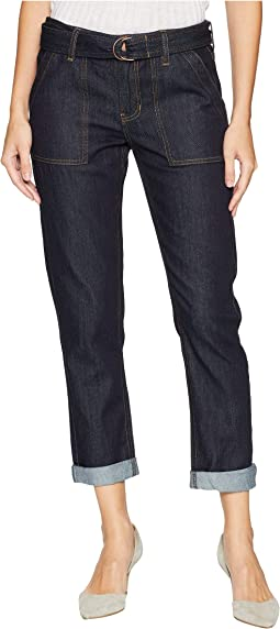 Peyton Boyfriend Porkchop in Soft Rigid Denim in Indigo Rinse
