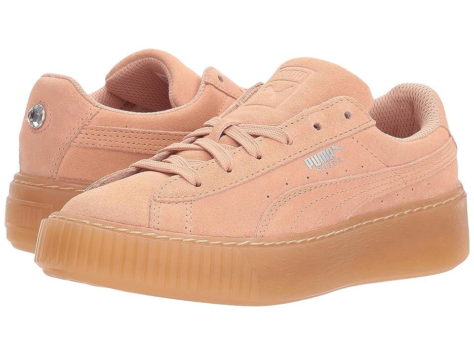 Puma Kids Suede Platform Jewel (Little Kid) (Peach Beige/Peach Beige) Girls Shoes
