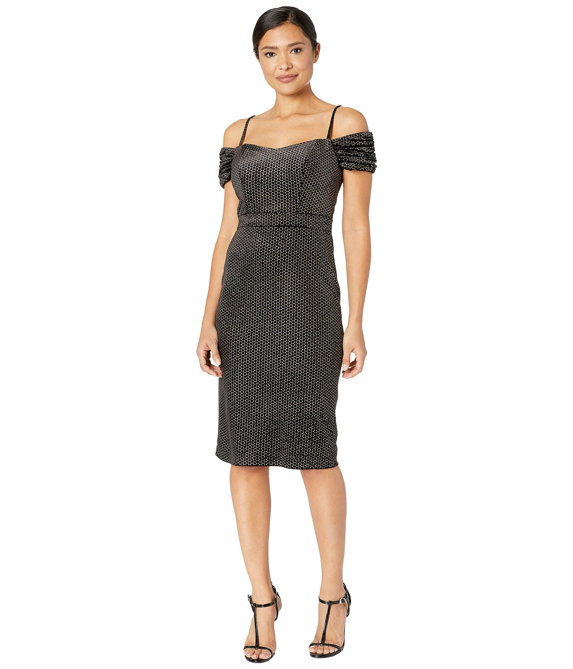 Black Shelli Velvet Circle In Shoulder By The Off Dress Segal Laundry silver Flocked 1PBn6qT5