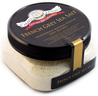 French Grey Fine Sea Salt - from the Coasts of Brittany, France - Solar-Evaporated, All-Natural - Infused with Mineral-Rich Clay - Gluten-Free, No MSG, Non-GMO - 4 oz. Stackable Jar