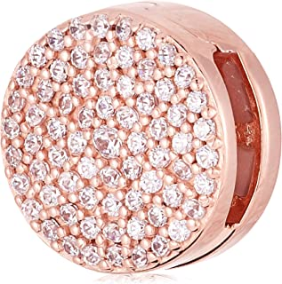 Pandora Reflexions clip charm in Rose with clear cubic zirconia , 787583CZ