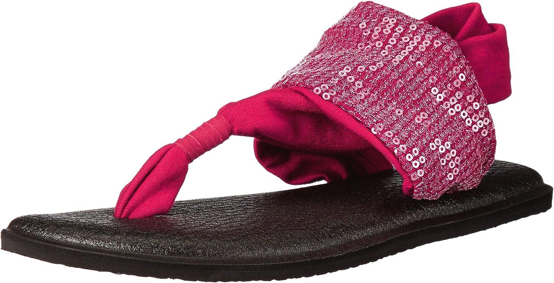 Sanuk Womens Yoga Sling Sequins Flat Sandal