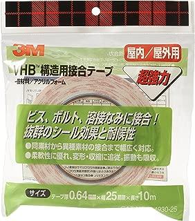 3M VHB 構造用接合テープ Y-4930-25 25X10