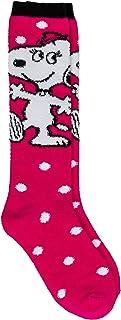 Peanuts, Calcetines para niños con diseño de Snoopy Belle talla 27/30, color rosa y blanco, suaves y cálidos para invierno