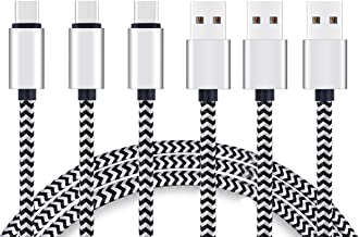 USB Type C Cable 10ft 3Pack Quick Sync Charging USB C 2.0 to USB A Nylon Braided Cord for BSB Qc Wall Car Charger for Gala...