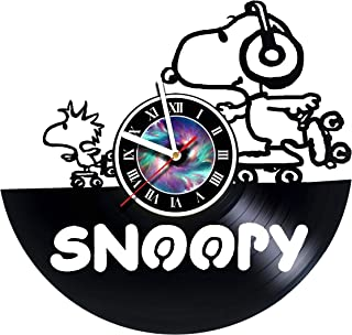 StepArtHouse Snoopy Happy Dance - Handmade Vinyl Wall Clock Get Unique Gifts Presents for Birthday, Christmas, Ideas for Boys, Girls, Men, Women, Adults, him and her - Unique Design