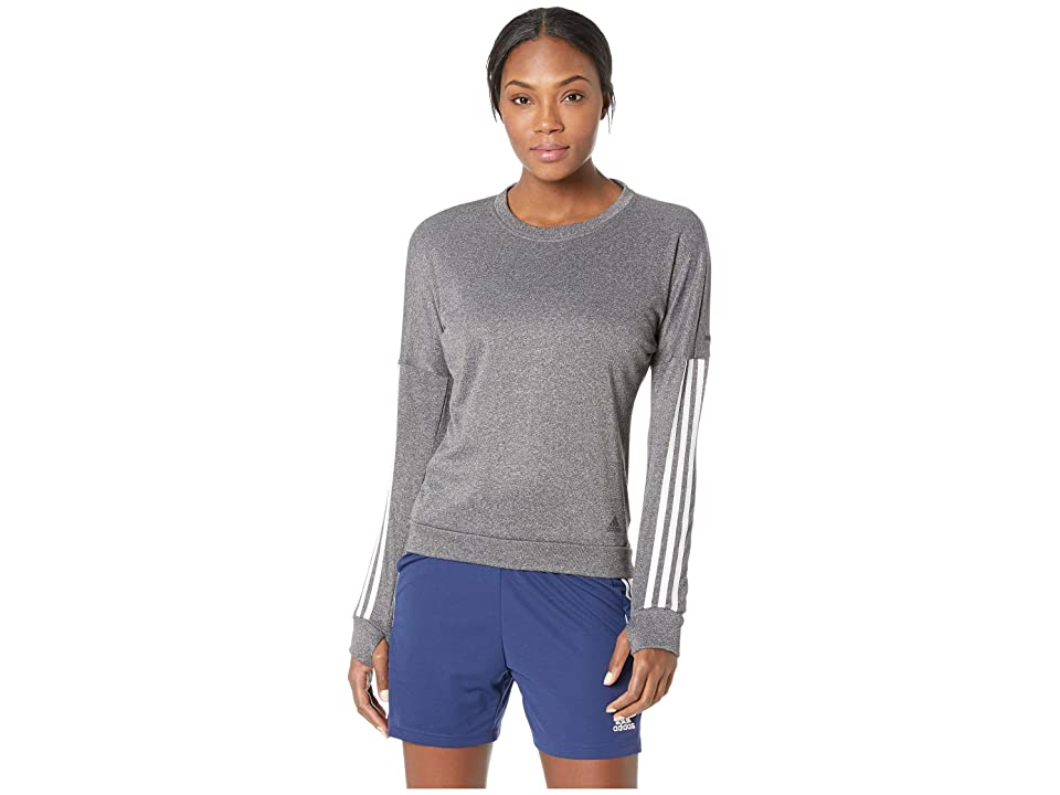 adidas Run Pullover (Grey Heather/White) Women