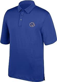 J America NCAA Men's Boise State Broncos Yarn Dye Striped Team Polo Shirt, XX-Large, Royal