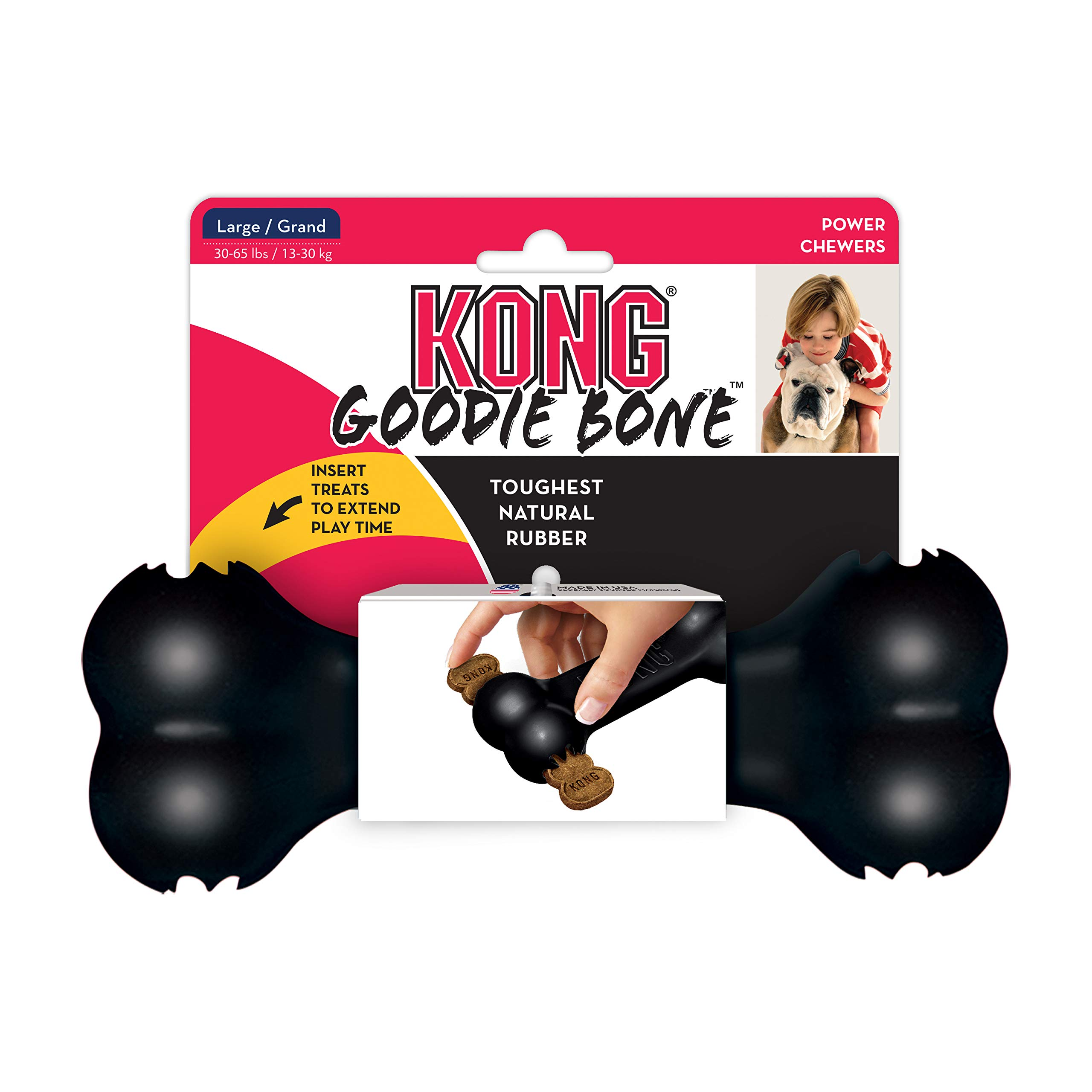 KONG - Extreme Goodie Bone - Hueso para Perro de Caucho ...