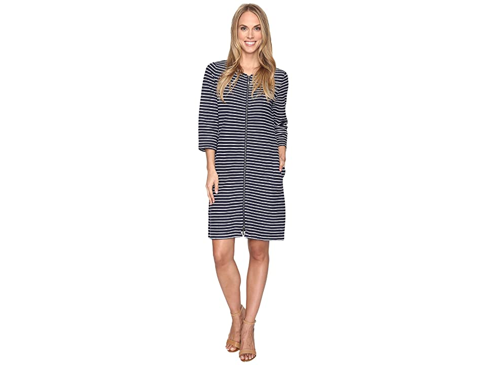 Pendleton Lola Stripe Dress (Tartan Navy/White) Women