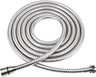 HOMEIDEAS 138-Inch Shower Hose SUS 304 Stainless Steel Extra Long Shower Hose Replacement Handheld Shower Head Hose Extension