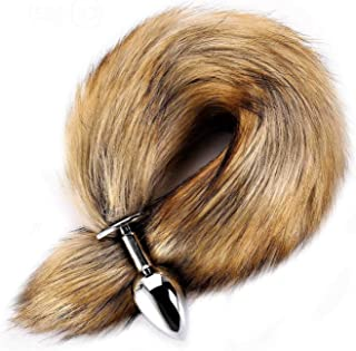 Realistic Fox Tail Fluffy Fur Tail for Kids Costume Cosplay