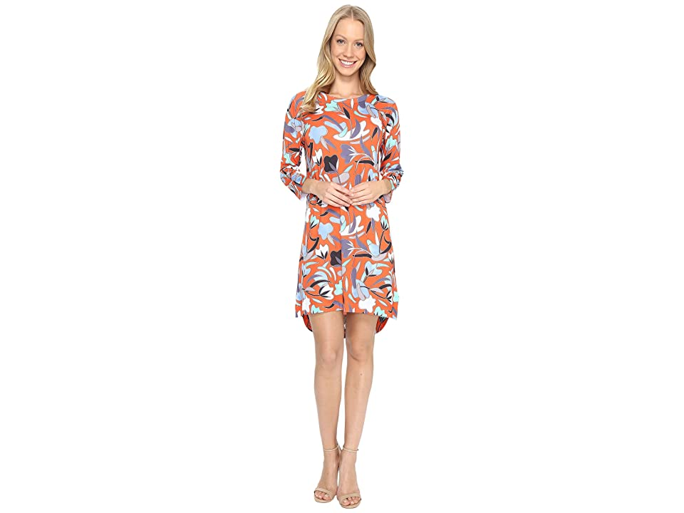Nally & Millie Red Floral High-Low Dress (Multi) Women