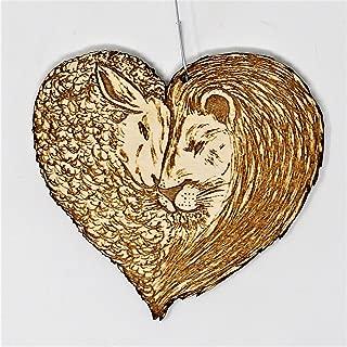 Lion and Lamb Christmas Ornament | Hand Made Peace on Earth Spiritual Holiday Gift