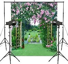 MUEEU 6x9ft Garden Backdrops Spring Rose Photography backdground Wedding Flower Floral Green Grass Vinyl Digital Printed Photo Studio Props