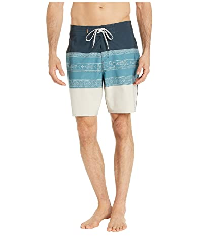 Quiksilver Waterman Liberty Triblock Boardshorts 19 (Silver Cloud) Men