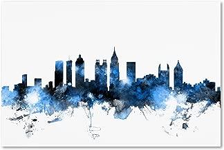 Atlanta Georgia Skyline White by Michael Tompsett, 30x47-Inch Canvas Wall Art