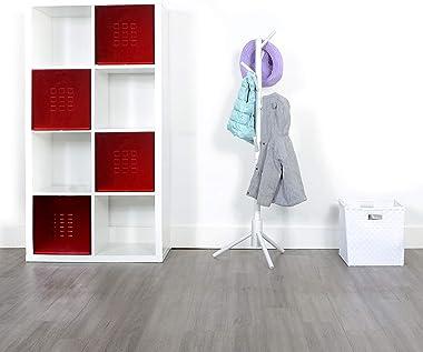 Milliard Kids Coat Tree Rack Hanger Wooden White Rack Organizer Furniture