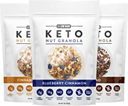 Low Karb - Keto Nut Granola Healthy Breakfast Cereal - Low Carb Snacks & Food - 3g Net Carbs - Almonds, Pecans, Coconut an...