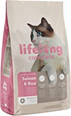 Marchio Amazon- Lifelong Complete - Alimento secco completo per gatti adulti con salmone e riso, 1 x 3kg