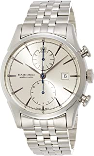 Hamilton Men's Timeless Classic Swiss-Automatic Watch with Stainless-Steel Strap, Silver, 22 (Model: H32416981)