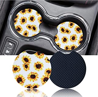 Viwu 2PCS Universal Vehicle Car Cup Coaster, 2.75 Inch Anti Slip Insert Coaster,ar Cup Holder Coasters for Your Car with F...