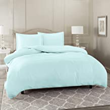 Nestl Bedding Duvet Cover 3 Piece Set – Ultra Soft Double Brushed Microfiber Hotel Collection – Comforter Cover with Button Closure and 2 Pillow Shams, Baby Blue - Queen 90