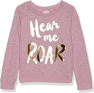 Baby Girls Long Sleeve Crew Neck Raglan Sweater