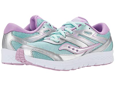 Saucony Kids S-Cohesion 13 LTT (Little Kid/Big Kid) (Silver/Turquoise) Girls Shoes