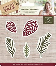 Crafter's Companion AWTMDPCA Sara Davies Signature A Winter's Tale Metal Die-Pine Cones & Leaves,