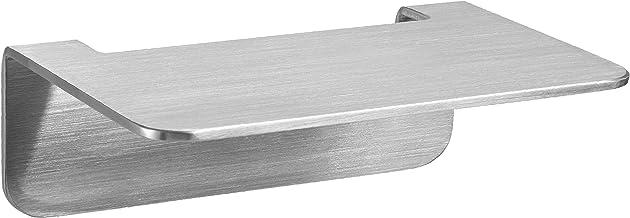 WEISSENSTEIN Badplank zonder boren van roestvrij staal - zelfklevende plank voor de badkamer - 14 x 9,5 x 5 cm
