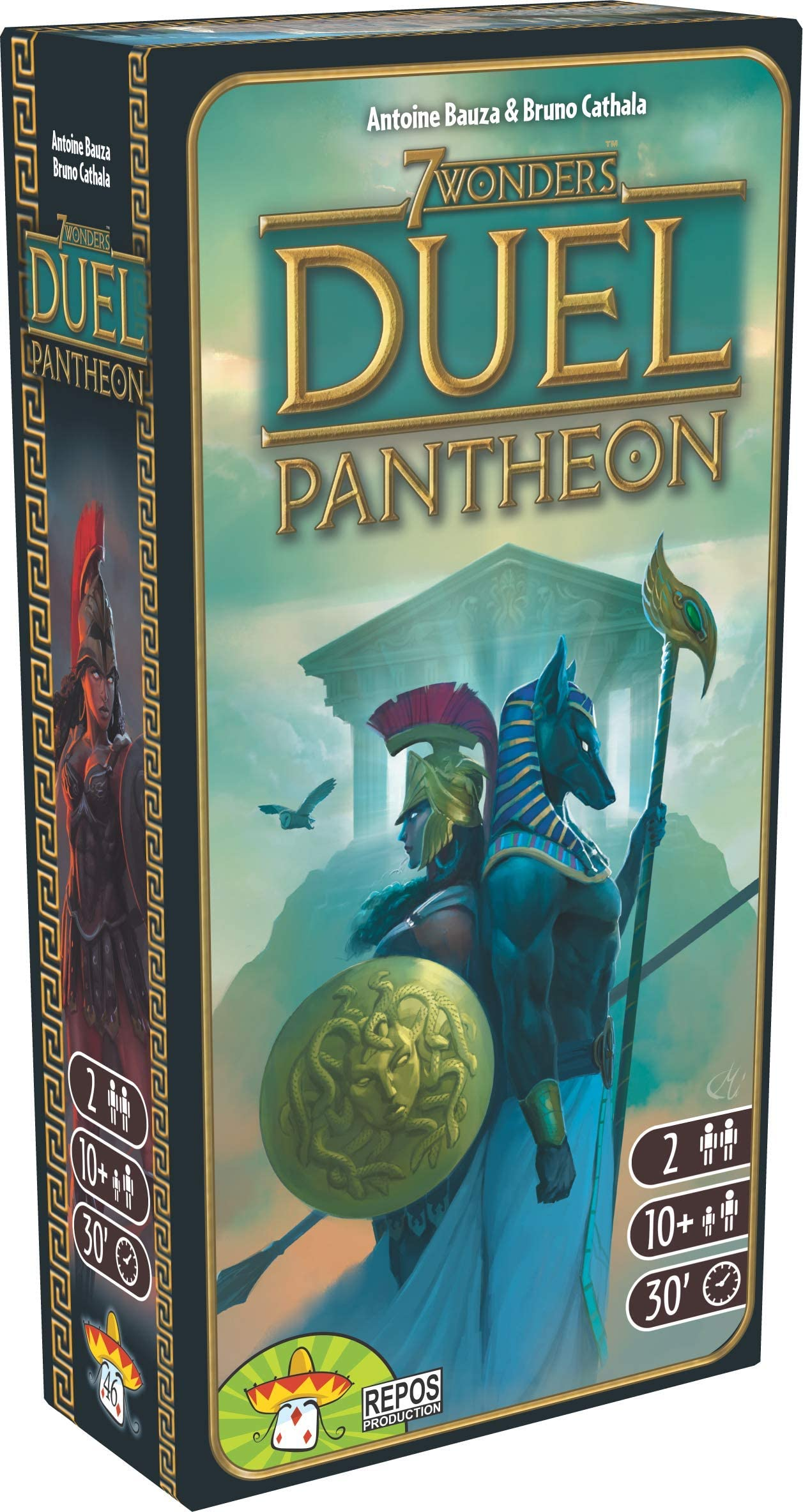 7 Wonders Duel Pantheon Board Game EXPANSION | Board Game for 2 Players | Strategy Board Game | Civilization Board Game | Board Game for Couples | Ages 10 and up | Made by Repos Production