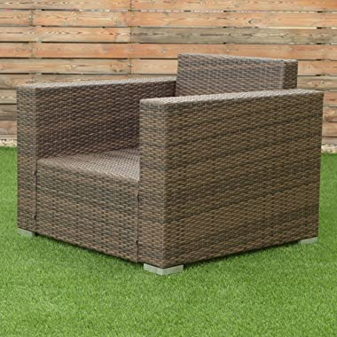 Tangkula 7 PCS Outdoor Patio Rattan Furniture Set Sectional Cushioned Sofa Set (Color 1)
