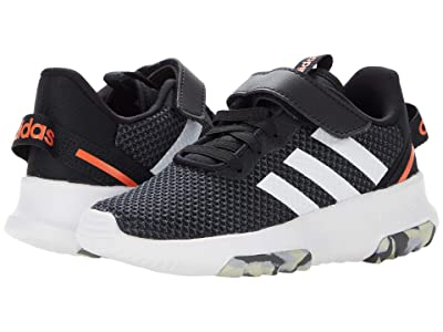 adidas Kids Racer TR 2.0 (Little Kid) (Black/White/Grey) Kid