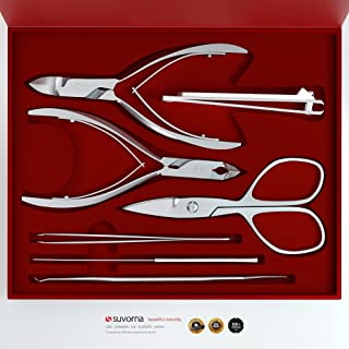 Suvorna Professional Manicure/Pedicure Kit (7 Pieces) Manipro M77, Polished Steel, 13.6 Ounce
